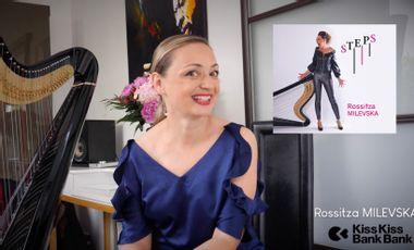 Visueel van project Rossitza MILEVSKA - promotion new album - jazz harp