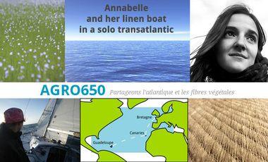 Visueel van project Annabelle et son bateau en lin dans une transatlantique en solitaire