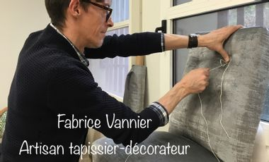 Project visual Fabrice Vannier, artisan tapissier-décorateur