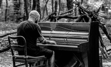 Visueel van project The eye of time/Recording session - Piano & Cello drone