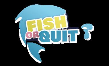 Visueel van project FISH OR QUIT : pêcher avec respect, jouer sans pitié!