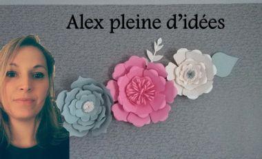 Project visual Alex pleine d'idées et ses fleurs géantes
