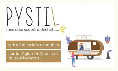 Project visual PYSTIL : épicerie mobile bio, locale et sans emballage, à Lyon !