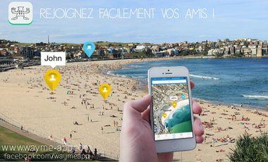 Visuel du projet WAYme App - Rejoignez facilement vos amis!