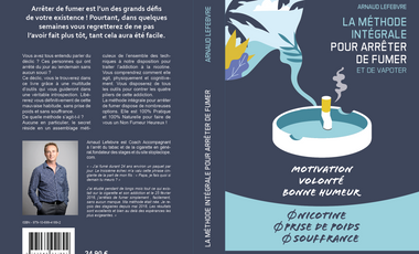"""Visueel van project Le Livre """" La méthode Intégrale pour arrêter de fumer"""""""