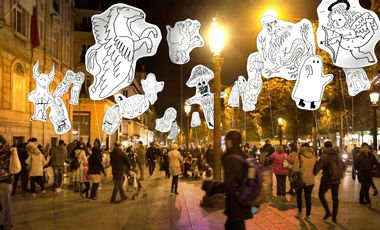 Project visual OJAN - NUIT BLANCHE 2019