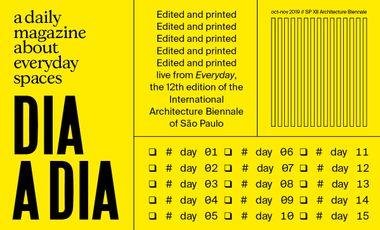 Project visual Dia a Dia - un quotidien pour la 12e Biennale d'Architecture de São Paulo