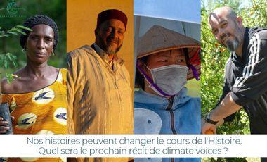 Visueel van project Climate Voices : Contribuez à changer le cours de l'Histoire.