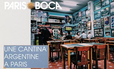 Project visual Paris-Boca, Cantina Argentina
