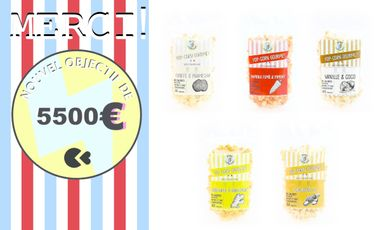 Project visual Pop'Orico, du pop-corn gourmet français, sain et local !
