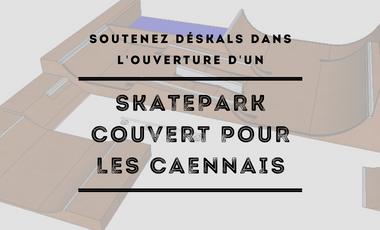 Visuel du projet Un skatepark couvert pour les Caennais
