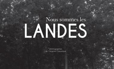 """Visueel van project Livre-photo """"Nous sommes les Landes"""""""