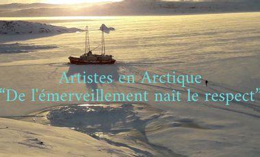 Visueel van project Artistes en Arctique, de l'émerveillement naît le respect