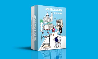 Visuel du projet Zigzag Paris, le jeu pour découvrir Paris hors des sentiers battus