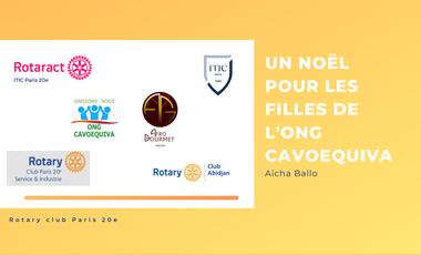 Project visual Un noël pour les filles de l'ONG CAVOEQUIVA