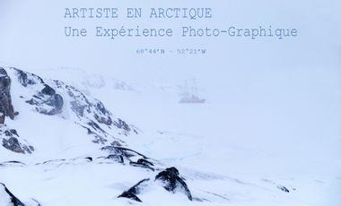 """Visueel van project Expérience """"Photo-Graphique"""" au coeur de l'arctique, photo d'art et héliogravure"""