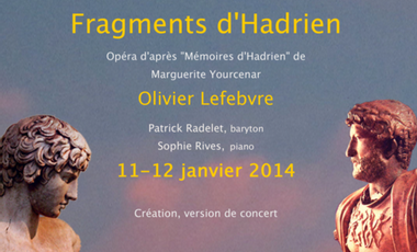 """Project visual """"Fragments d'Hadrien"""", création"""