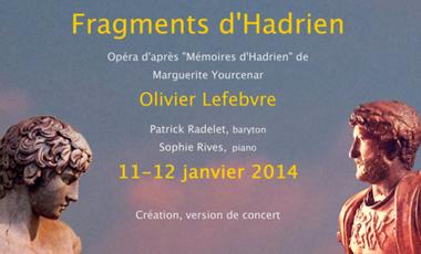 "Visueel van project ""Fragments d'Hadrien"", création"