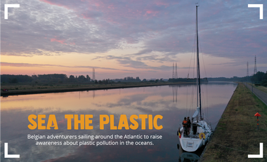 Visueel van project SEA THE PLASTIC, sailing around the Atlantic fighting plastic pollution