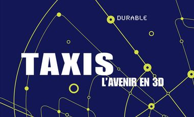 Visueel van project Taxis, l'avenir en 3D - durable, digital et darwinien