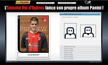 Project visual Album Panini pour un club de foot amateur