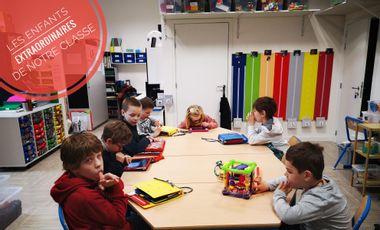 Project visual Explorons nos sens, projet sensoriel dans une classe avec des enfants autistes