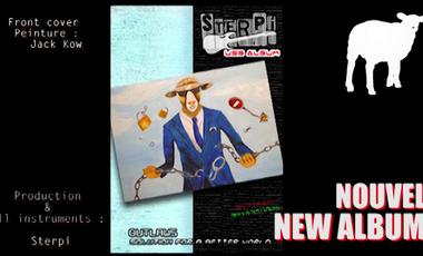 "Visuel du projet Sterpi ""Outlaws - Solution For A Better World"" album USB 2020"