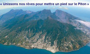 """Visuel du projet Un pied sur le Piton                                        """"Un piyé dési piton"""""""
