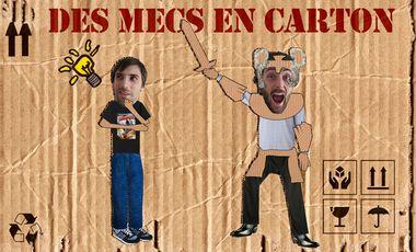 Project visual Des mecs en carton