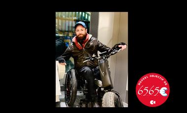 Visueel van project Tour de France en fauteuil roulant à traction électrique