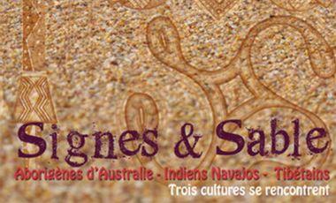 Visueel van project Signes et sable, exposition évènement