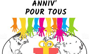 Visueel van project Anniv' pour tous, afin que chaque anniversaire dans le monde soit une fête !