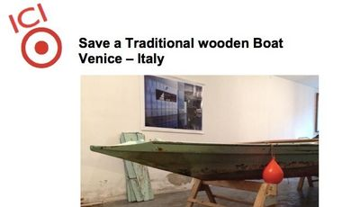Project visual Save a Traditional wooden Boat of Venice – Italy