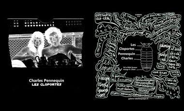 Project visual Les cloportes, 45t de Charles Pennequin aux éditions La Belle Epoque.
