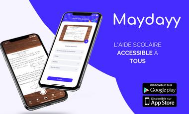 Project visual Maydayy, l'aide aux devoirs accessible à tous.