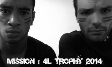 Project visual Soutenez Jeff & Julien pour le 4L Trophy 2014