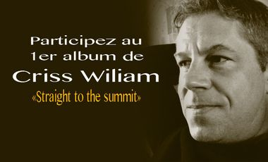 "Visuel du projet 1er Album ""Straight to the summit"" de Criss Wiliam"