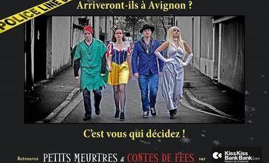 Project visual Petits meurtres et Contes de fées enquête en Avignon
