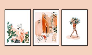 Visueel van project Les affiches illustrées de Sarah Bochaton