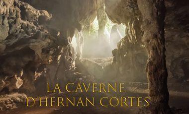 """Visuel du projet Chez Chronophage escape game. Construction de """"La caverne d'Hernan Cortes""""."""
