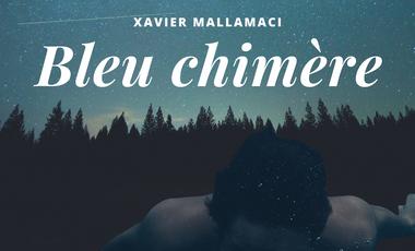 """Visuel du projet """"Bleu chimère"""", lancement premier roman, Xavier Mallamaci"""