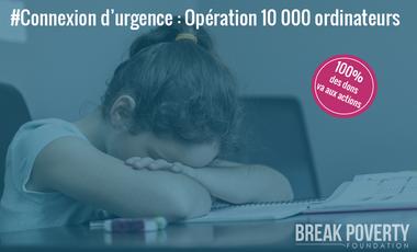 Visueel van project Urgence Covid-19 : Opération 10 000 ordinateurs pour les enfants défavorisés
