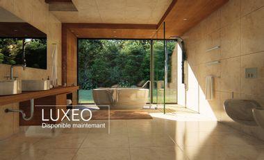Project visual Luxeo un sèche-serviettes à intégrer dans votre cloison.