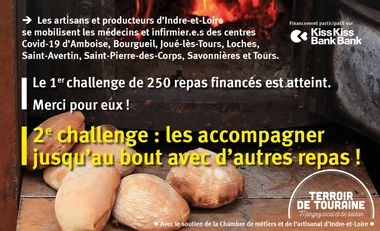 Visueel van project Restaurons les soignant.e.s de Touraine