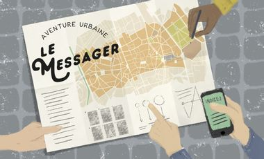 Project visual Oh My Guide! / Le Messager. L'aventure urbaine interactive