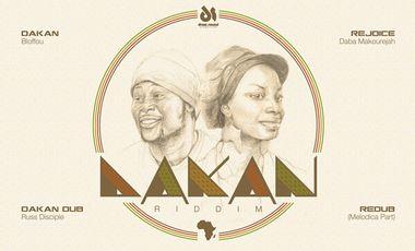 "Visuel du projet vinyl 12"" DAKAN RIDDIM (feat. Daba Makourejah, Bloffou, Manjul & Russ Disciples)"