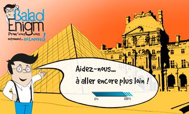 Visueel van project BaladEnigm : prom'nons-nous autrement au Louvre !