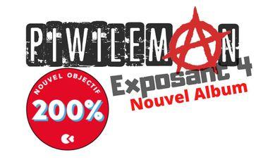 """Visueel van project Piwi Leman """"Exposant 4"""" Nouvel Album"""