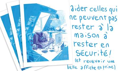 Visueel van project Sadboy - l'affiche pour Agir Pour la Santé des Femmes