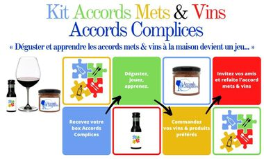 Visuel du projet Le Kit Accords Mets & Vins à déguster à la maison